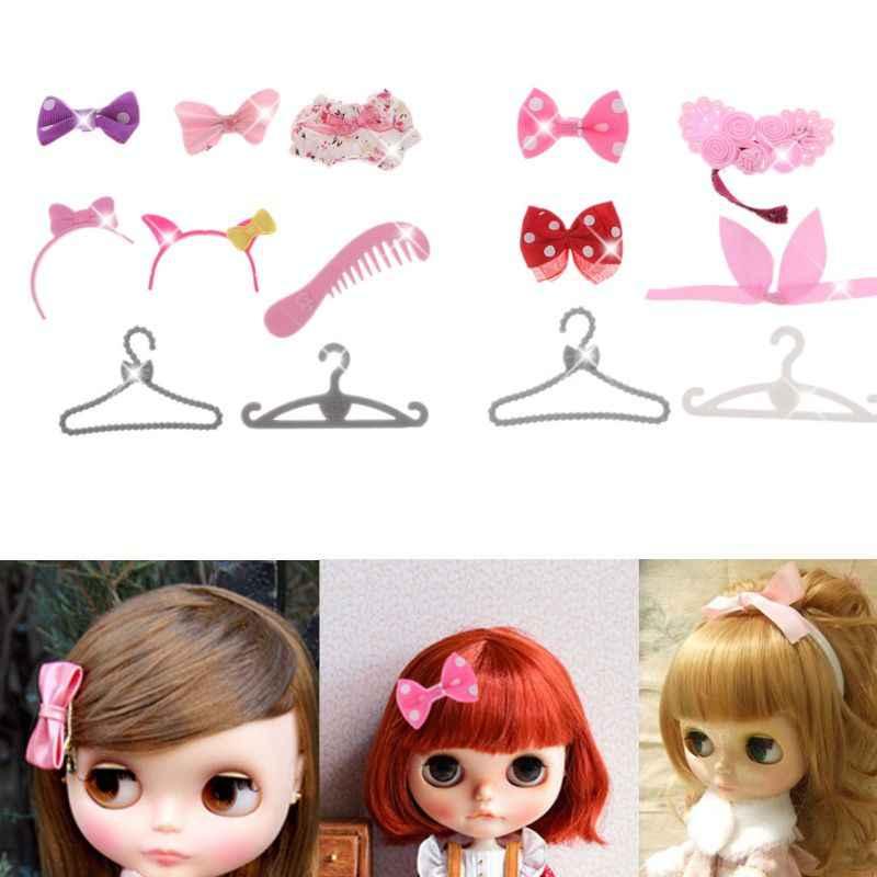 HBB 5 pçs/set Simular Headwear Para Icy Blythe Azone Boneca Crianças Presentes Meninas Bonecas Acessórios Tipos Aleatórios