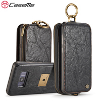CaseMe Song For Samsung Galaxy S8 S8 Plus Wallet Leather Phone Cases Metal Ring Stand Flip