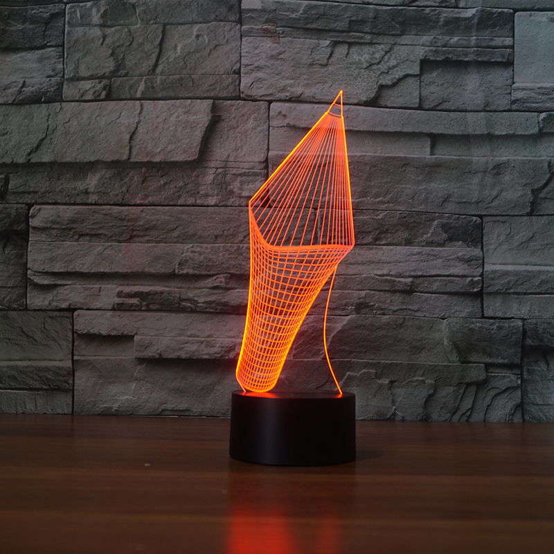 Creative 7 Colors Changing 3D Visual Pencil Model Table Lamp LED Novelty Pen Shape Night Light Study Room Home Decor Kids Gifts 3d luminous ice hockey player shape led table lamp 7 colors changing home living room decor light fixture baby sleep night light