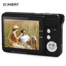 цена на KOMERY Digital Camera 2.7 Inch TFT Screen CMOS 5.0MP Anti-shake 8X Digital Zoom 1800w Pixel Micro Function Video Camera For Gift