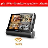 Беспроводной NVR видео сервер сети Wi Fi ip камера с поддержкой 4 беспроводной ввод ip камеры nvr комплект VStarcam NVS K200 с ЖК монитор
