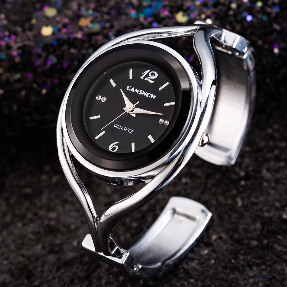 Women Bracelet Watches 2019 New Stylish Luxury Quartz Watch Full Steel Analog Silver Dial Dress Clocks Montre Femme