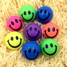 10pcs rubber smile bouncing ball,bouncy balls funny toys for children kids pets,birthday party gifts promotion cheap play balls