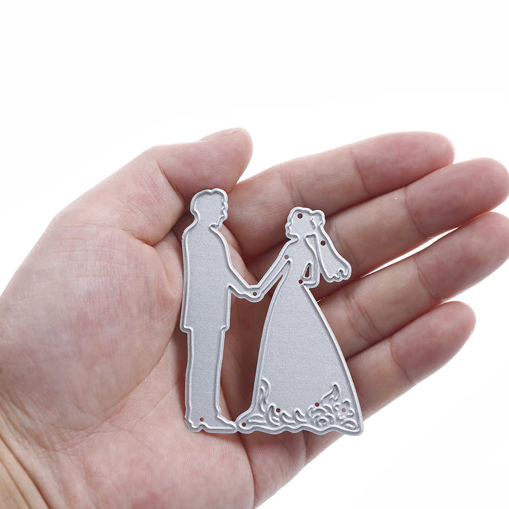 For DIY Scrapbooking Card Paper Photo Album Embossing Decor Craft Metal Bride Groom Wedding Cutting Dies Stencils