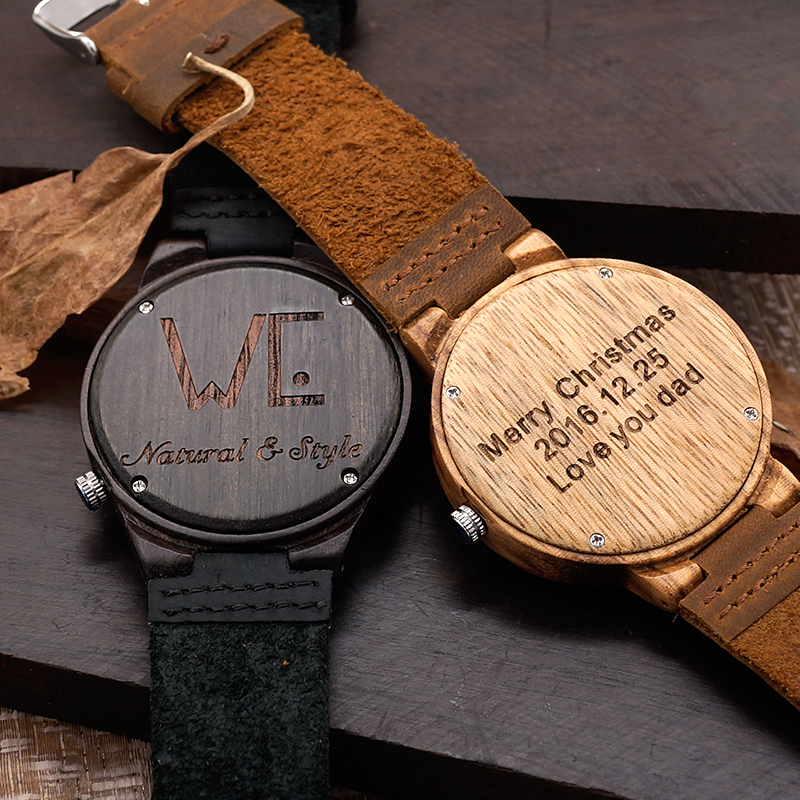 wooden mens gifts wood birthday custom engraved personalized watches watch woodchronos