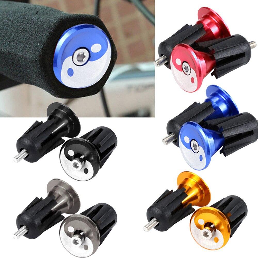 1 Pair MTB Road Bike Bicycle Aluminum Alloy Handlebar Grips Bar End Cap Plug