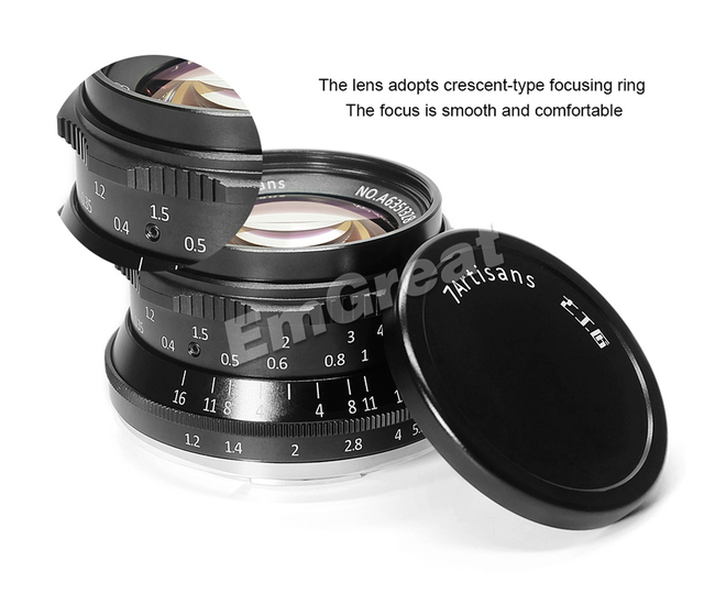 7artisans 35mm F1.2 Prime Lens for Sony E-mount / for Fuji XF APS-C Mirrorless Camera Manual Focus Fixed Lens A6500 A6300 X-A1