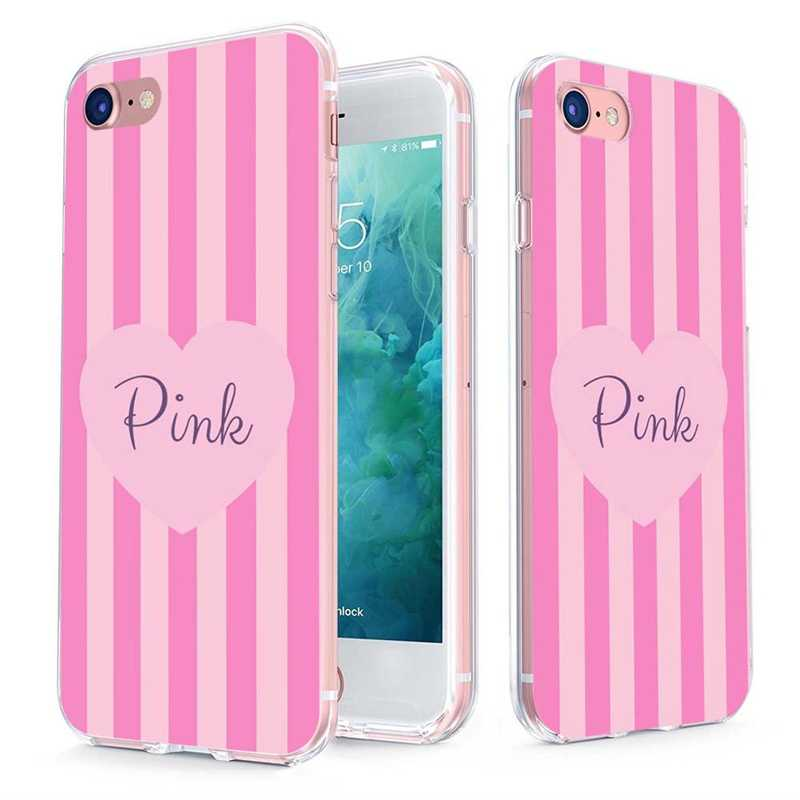 MLCRIYG, мягкий чехол для телефона, для iPhone 6, 6S Plus, 7, 7 Plus, 8 Plus, iPhone X, TPU, разноцветный, розовый, с цветочным узором, с сердечком, чехол, Fundas C083