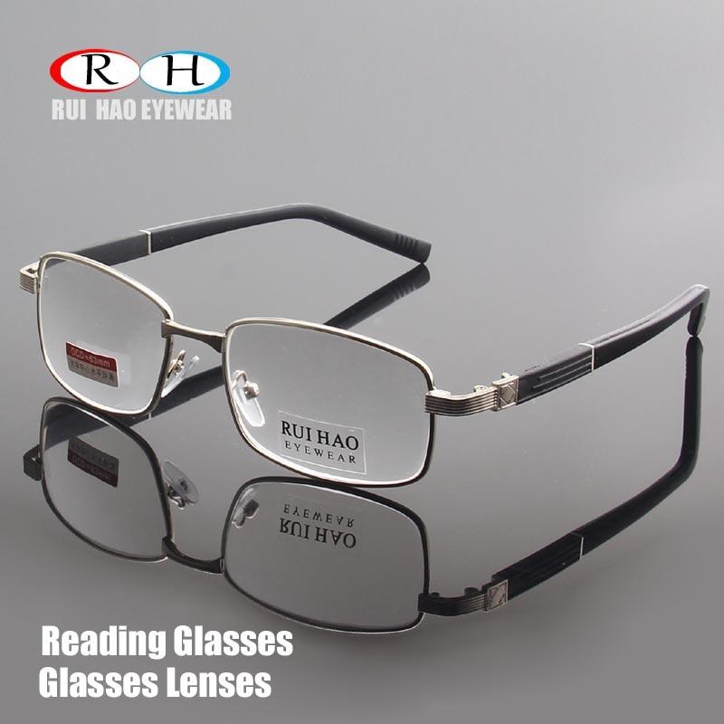 2c220445fd738 Marca de Óculos De Leitura Clara Lentes De Vidro Óculos Para Presbiopia  Óculos de Leitura + 1.00 ~ + 4.00 Retângulo Óculos de Design 1308