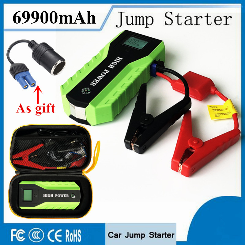 Petrol Diesel Starting Device 69900mAh Multi-function Car Jump Starter Power Bank 12V 600A Portable Car Battery Booster Charger