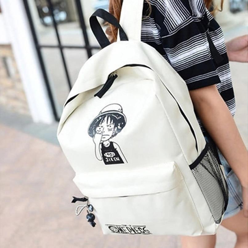 one piece luffy school bags backpack shoulder bag anime crazy store. Black Bedroom Furniture Sets. Home Design Ideas