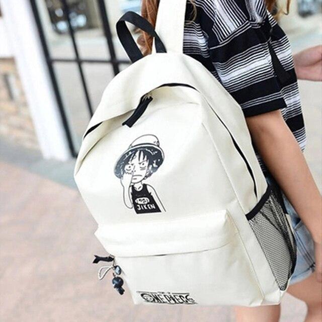 One Piece Luffy School Backpack Shoulder Bag