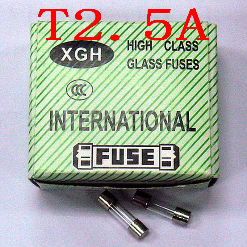 AC 250V 2.5A Quick blow glass tube fuse Glass fuses 5 mm x 20 mm 100 pieces