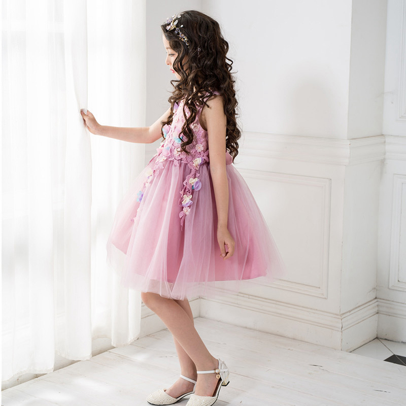 Purple girl party dress teenage 8 10 12 14Years children clothing sleeveless kids wedding costumes floral girls princess dress bohemia teenage girls dress summer 7 9 11 years costumes spring children clothing kids clothes girls party frocks designs hb3028