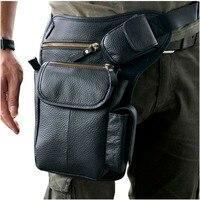 Leather Design Men Multi Function Casual Shoulder Messenger Bag Fashion Travel Waist Belt Pack Drop Leg