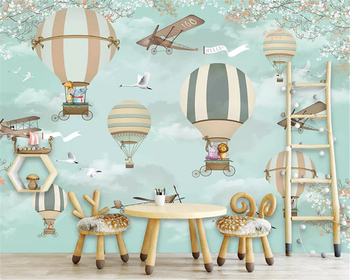 beibehang Custom size Modern three-dimensional decorative painting wallpaper hot air balloon background wall papers home decor