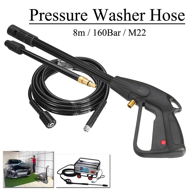 2Pcs 2300psi High Pressure Power Car Washer Spray Water  8m Hose Auto Washing Accessorie For Cleaner Watering Lawn Garden(China)