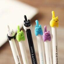 JIANWU 6pcs 0.5mm Cute kitten tail mechanical pencil mascot student gift kawaii
