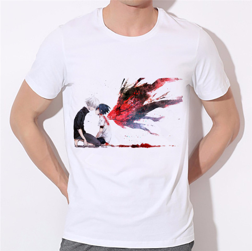 New Animation T Shirt Anime Novelty Summer woman man T-shirt Tokyo Ghoul t Shirt Cosplay Costume Clothing W28-30#