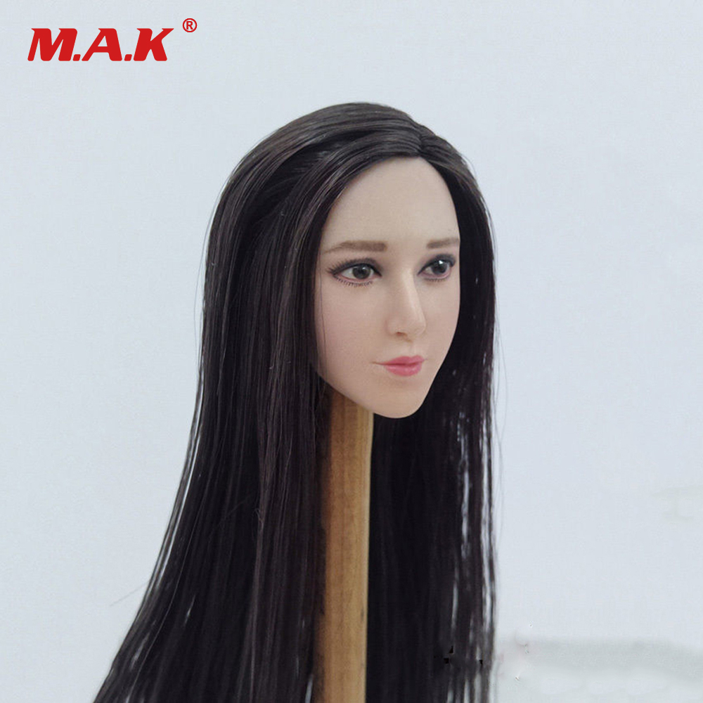 1/6 Scale China Star Female Figure Accessories Fan Bingbing Head Sculpt Model with Hat for 12 inches Action Figure Body цена