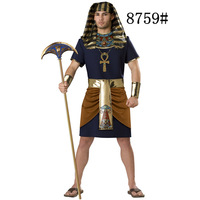 2018 New Adult Womens Sexy Halloween Party Ancient Egypt Pharaoh Costumes Outfit Fancy Cosplay Dresses Size
