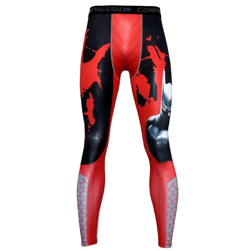 2019 Neue Männer Druck Leggings Compression Enge Sportswear Jogging Sport Fitness Gym Hose Männlichen Hosen Laufen Workout Hosen
