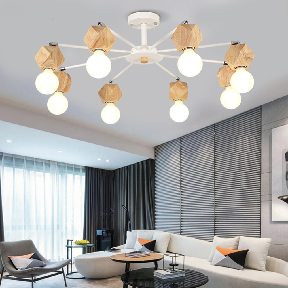 Surface mounted LED ceiling lamp garden pastoral art living room bedroom lamp  creative personality art lamp