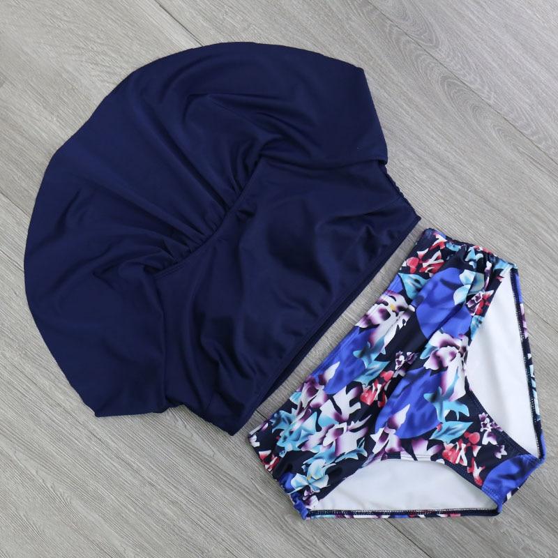 HTB1b6eMjr3nBKNjSZFMq6yUSFXao 2018 Bikinis Women Swimwear High Waist Swimsuit Halter Sexy Bikini Set Retro Bathing Suits Plus Size Swimwear XXL