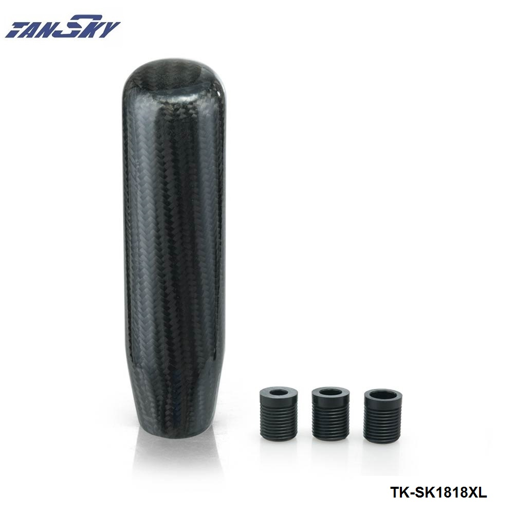 Tansky 130mm Real Carbonfiber Aluminium Alloy Long Black