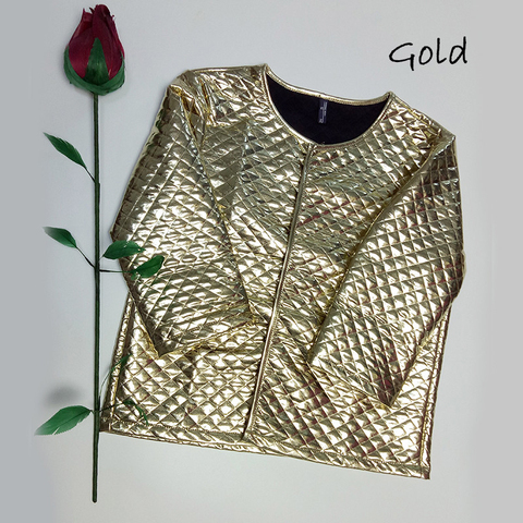 CbuCyi Fashion Women Argyle Gold Sequins Short Jackets Three Quaters Sleeves Outwear Coats Ladies Thin Slim Casual Basic Jackets Lahore