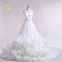 Jeanne Love 2018 New Design Dress Cloud Luxury Princess Long Train Robe De Mariage Bridal Gowns A Line Wedding Dresses JLOV11039