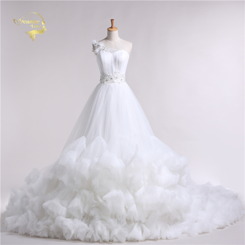 Jeanne Love 2019 Dress New Design Cloud Luksoze Princesha Long Long Robe De Mariage Dresses Nusja Një Linje Dresses Dasma JLOV11039