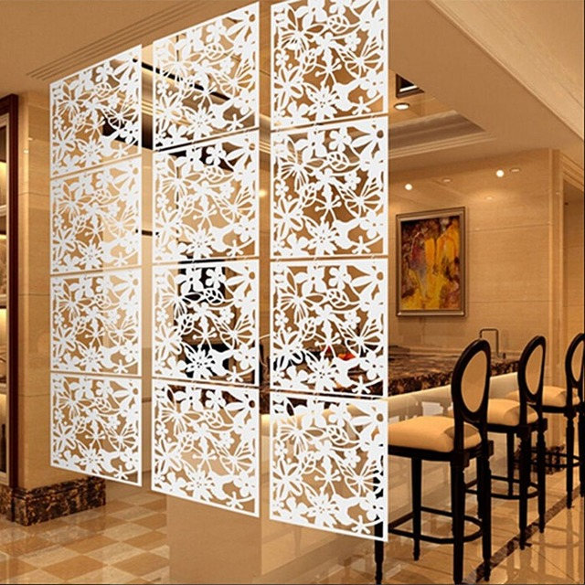 4 pcs set ruang pembagi dekoratif partisi dinding paravent layar menggantung ruang pembagi dekoratif partisi