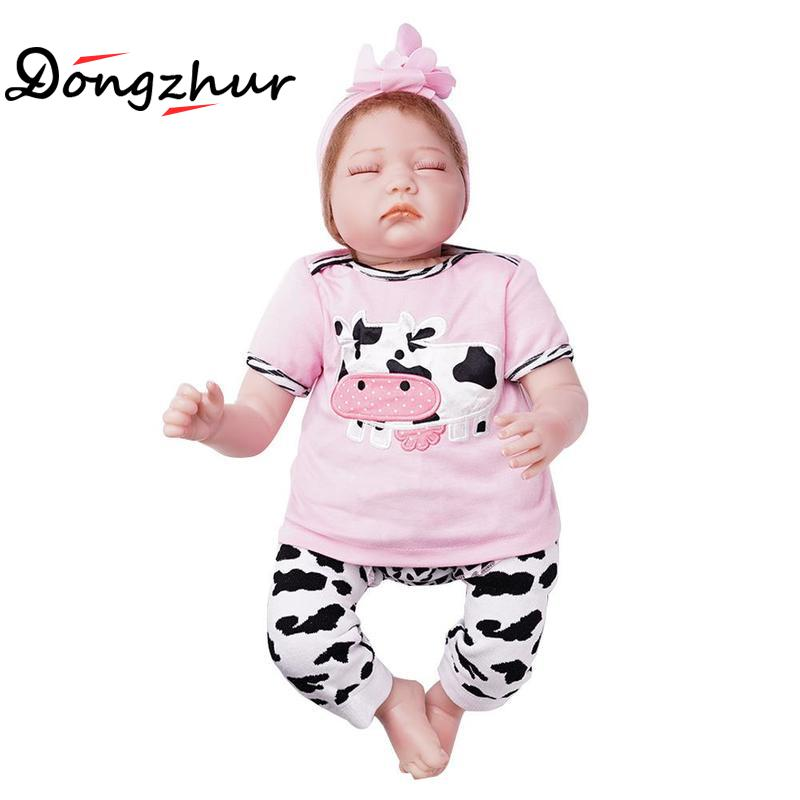 Dongzhur Silicone Real Doll Reborn Silicone Babies For Sale Boneca Reborn Silicone Completa 55cm Npkdoll Reborn Baby For Girls цена