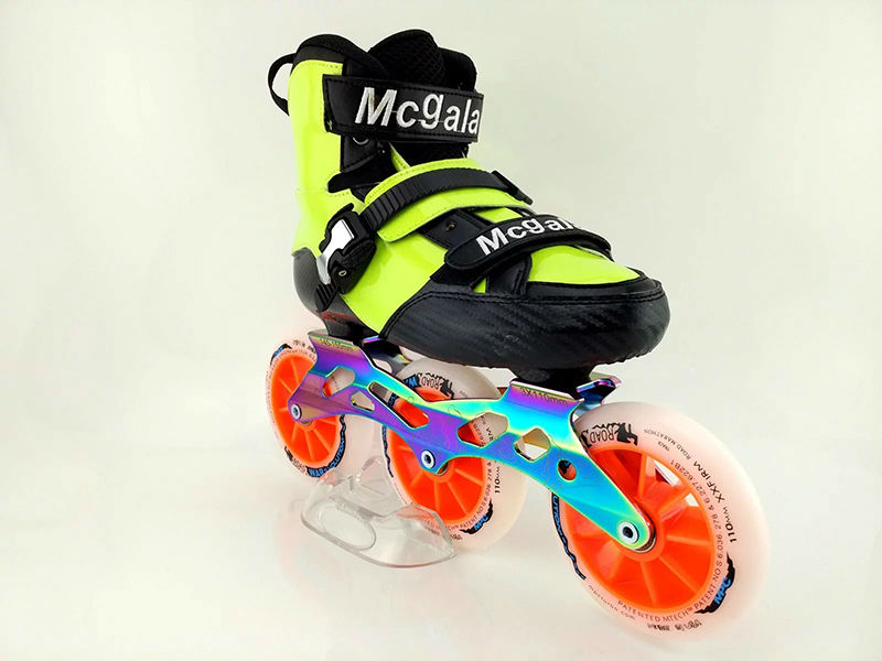 Free Shipping Children's Roller Skates Boots Mcgala Size Adjustable With Frame And Wheel
