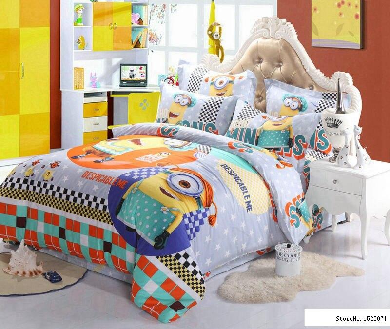 aliexpress : buy 100%cotton minion bedding sets kids pink