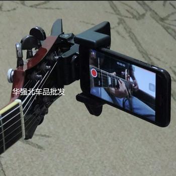 Uchwyt na gitarę uchwyt na telefon komórkowy transmisja na żywo Mobiile uchwyt na telefon stojak na statyw klips na głowę i klips do telefonu komórkowego tanie i dobre opinie OLOEY Metal