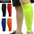 2 piezas deporte profesional de fútbol Protector transpirable de compresión Shin guardia almohadillas de soporte de la pierna mangas calcetín Brace
