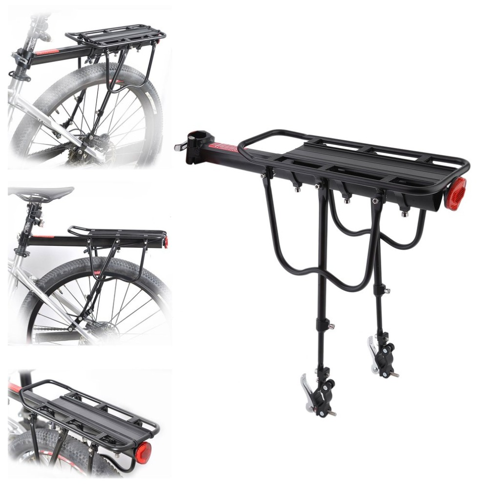 WOSAWE Quick Release Bicycle Rack Aluminum Alloy Bag Holder MTB Bicycle Mountain Rear Rack Seatpost Luggage Carrier Drop Ship