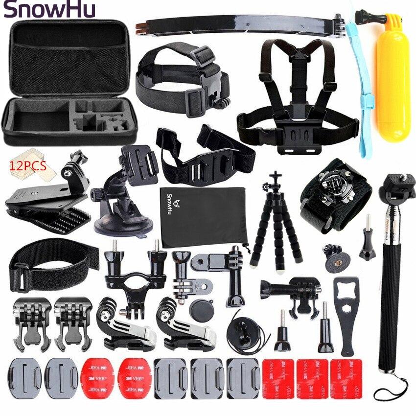 SnowHu pour Gopro hero 5 accessoires montage kit mini trépied pour go pro hero 7 6 5 4 pour xiaomi pour eken h 9 pour sj5000 caméra GS24