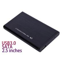 Качество 2,5 дюймов SATA3.0 USB 3,0 Корпус Алюминий сплав жесткий диск externo чехол HDD жесткий диск картридж sata внешняя крышка Черный
