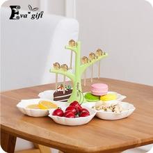 Три цвета творческие закуски ящик для хранения организатор кукушка форк уникальный стиль может хранения торт, фрукты красивый и практичный