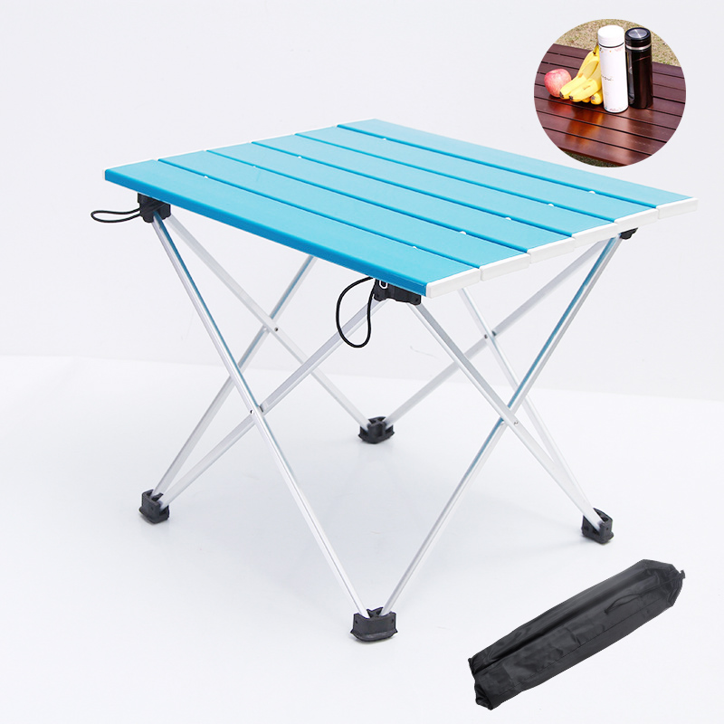 MYJ Aluminium Outdoor Tables Small Ultralight Portable Folding Small Tables Aluminum Desk Outdoor Table  Aluminium Table