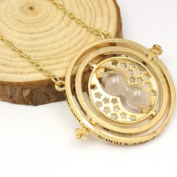 Hermine Time Converters Chain Hermione Granger Gold Plated Pendant Halloween New Year Christmas Gift Cosplay Props