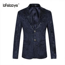 BFSBOYS Casual Suit for Men Personality Suit Brand Clothing Single-breasted Suit Fashion Blazer Male Men's Coat Gent Life