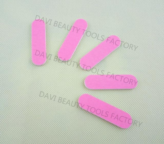 100 unids/lote mini lima de uñas con 6 cm longitud doble Rosa ...