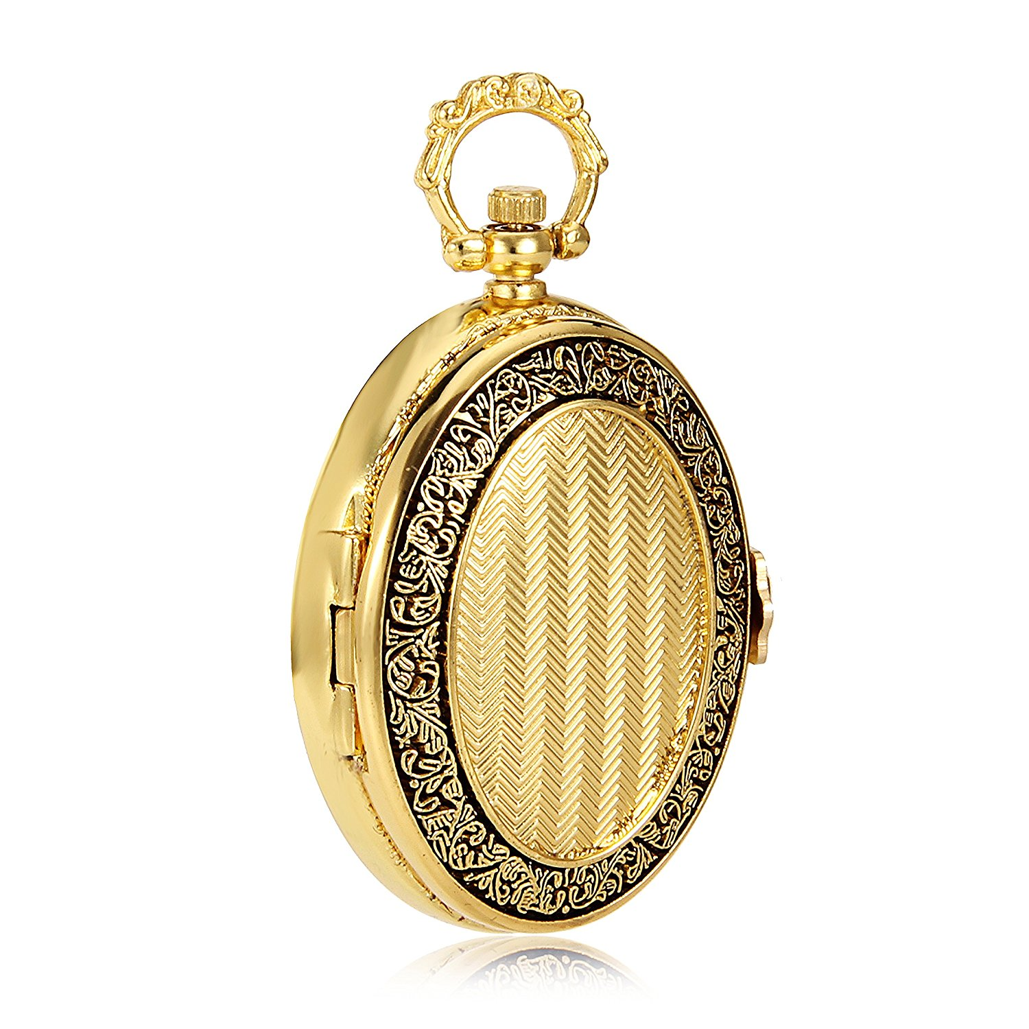 Mens pocket watches with chain images mens gold pocket watches gifts - Oval Gold Mechanical Pocket Watch Jewelry Vintage Antique Watch Imperial Royal Style Luxury Gift Watch Mens Pocket Watch W Chain