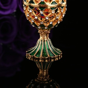Image 5 - QIFU Luxury Russia Style Faberge Egg with Small Castle Craft Ornaments Decoration