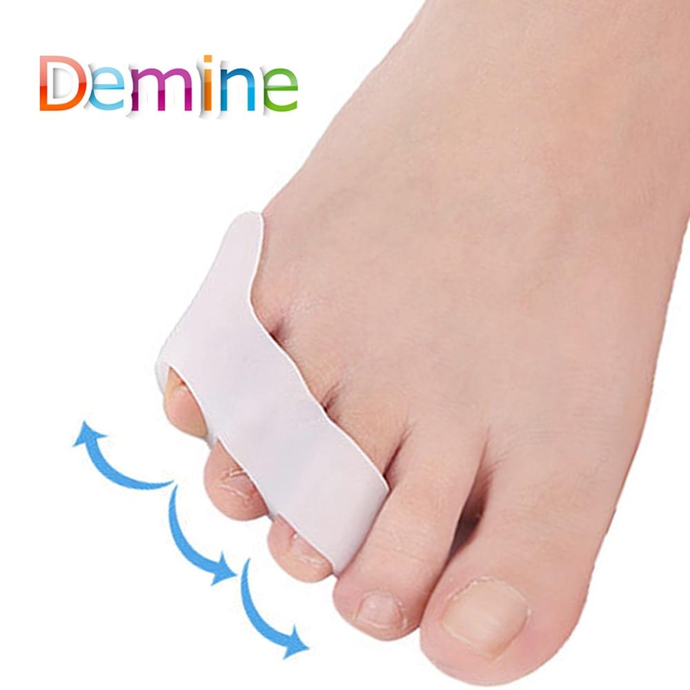 2 Pcs Silicone Gel Small Toes Separator Corrector Toe Orthotics Bunion Hallux Valgus Anti Eversion Overlap Inserts Pads