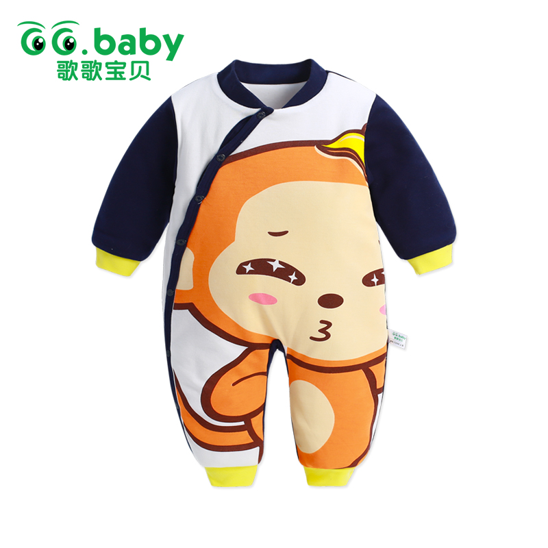 Monkey Print Baby Rompers Long Sleeve Baby Boy Romper Christmas Cotton Toddler Baby Clothes Jumpsuit Outwear Warm Baby Jumpsuits 2017 funny baby christmas rompers tiny cottons red green long sleeve toddler fashion jumpsuit sunsuits baby party